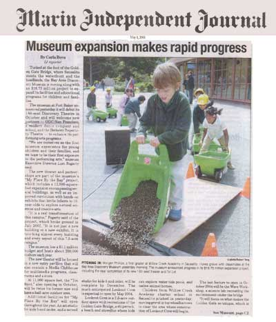 Bay Area Discovery Museum - Marin Independant Journal