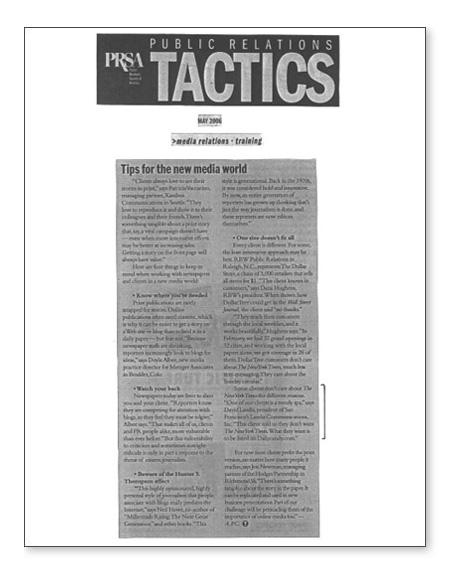 PRSA article