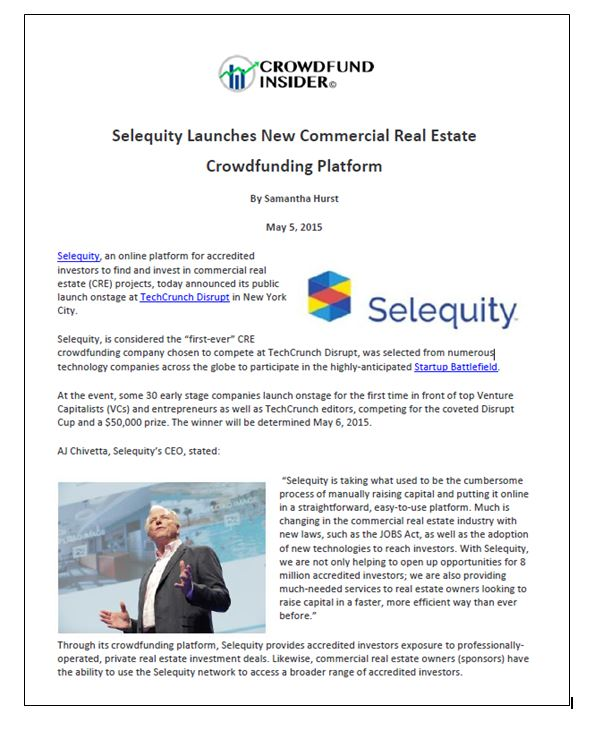 Selequity Crowdsource Insider