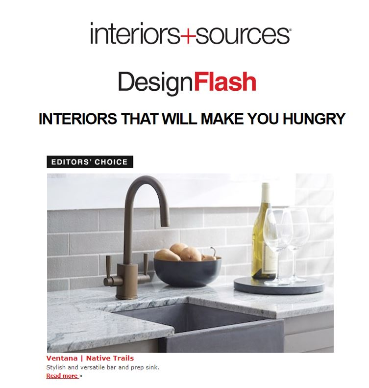 Native Trails' Ventana sink featured in interiors+sources