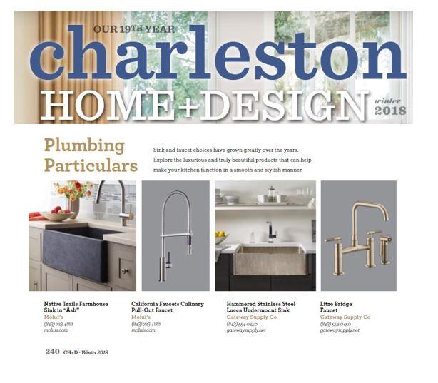 Native Trails Farmhouse Sink in Ash in Charleston Home + Design