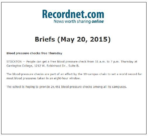 Carrington Record.net