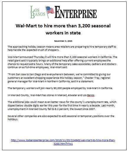 LOS Banos Enterprise Walmart
