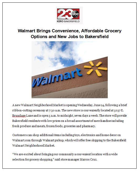 Walmart KERO 23 - Walmart GO