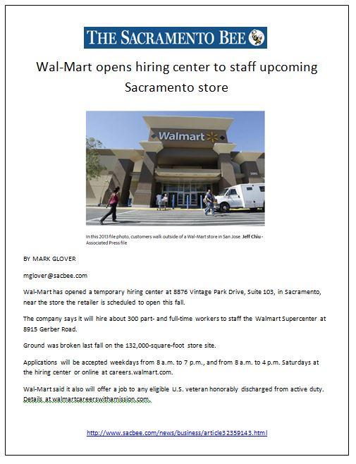 Walmart Sac Bee