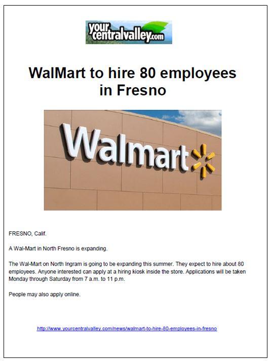 Your Central Valley Fresno Walmart