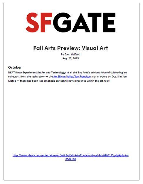 ArtSVSF SF Gate Fall Arts Preview