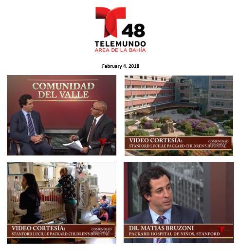 Client Stanford Children's Hospital featured on Comunidad del Valle (KTSF-Telemundo)