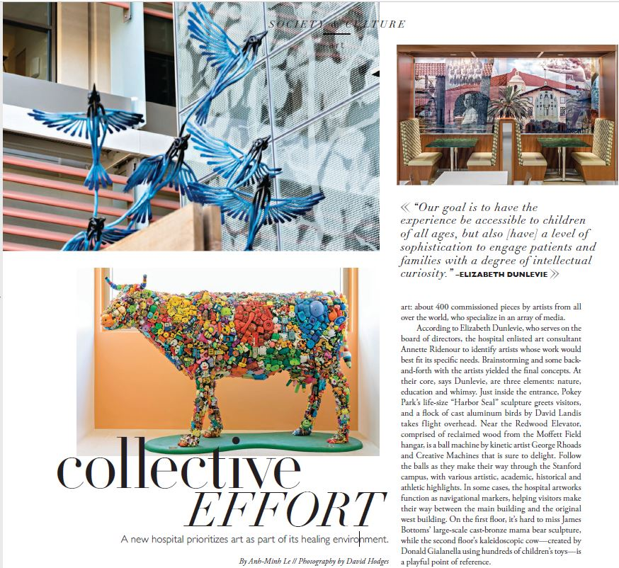 Renovated Stanford hospital mentioned in Silicon Valley Magazine