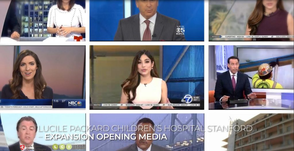 LCI has secured numerous media hits for Lucile Packard Children's Hospital Stanford