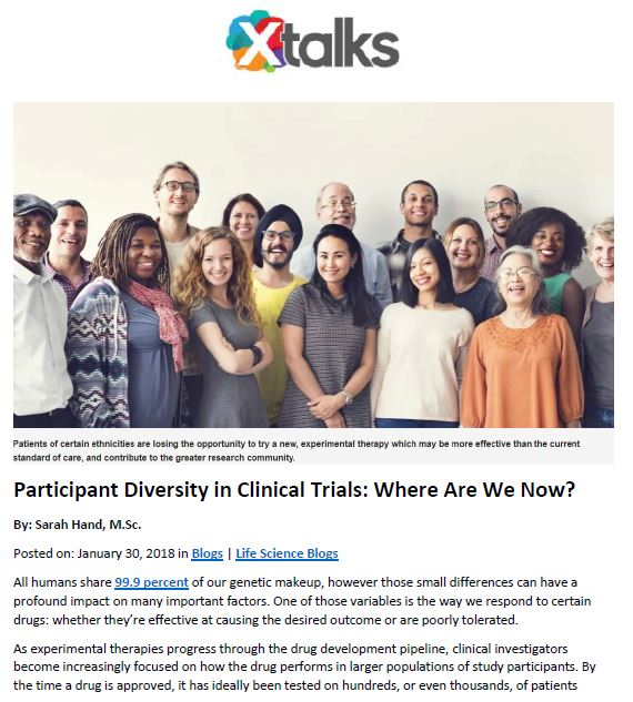 Global Alzheimer's Platform Foundation featured in an XTalks article about patient diversity in clinical trials
