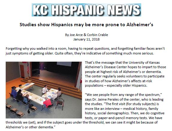Global Alzheimer's Platform in KC Hispanic News