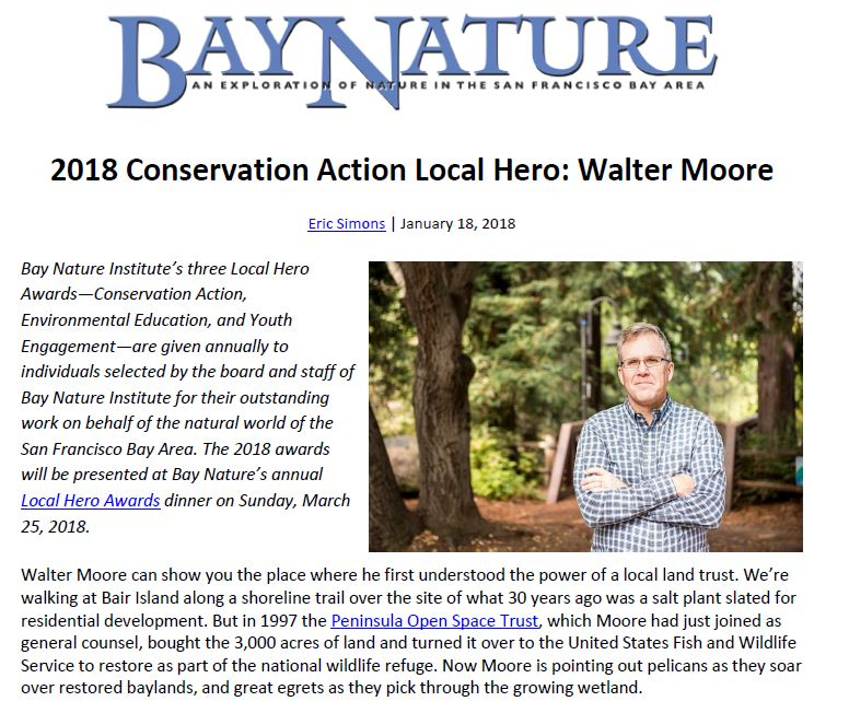 Walter Moore of POST in Bay Nature