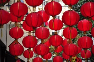 Red is a lucky color during Lunar New Year