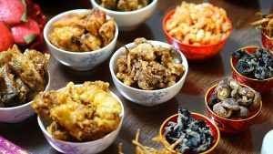 A big part of Lunar New Year is feasts with family