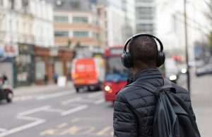 A man with headphones