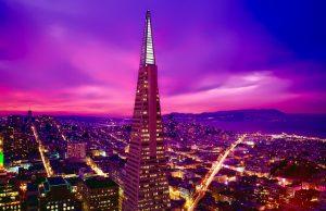 The Transamerica building in San Francisco