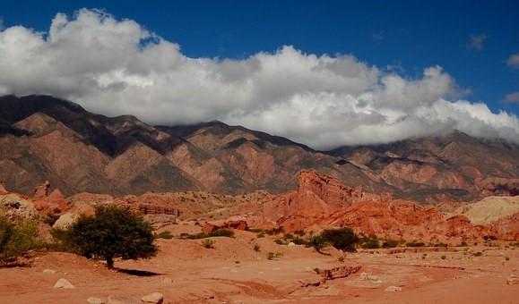 The hills near Salta, Argentina