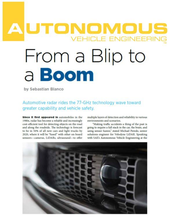 Autonomous Vehicle Engineering Velodyne