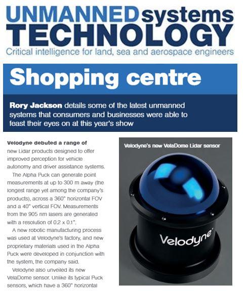 Unmanned Systems Technology Velodyne 2