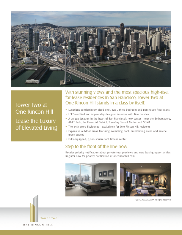 One Rincon Hill Flyer