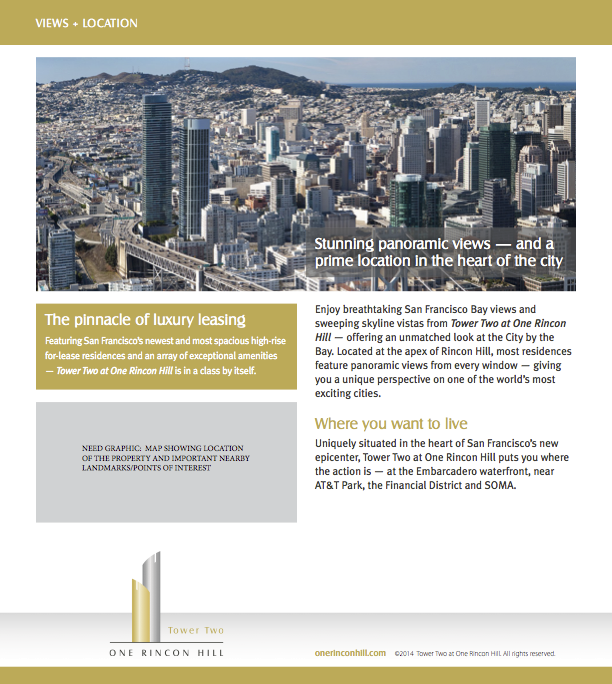 One Rincon Hill Views Flyer