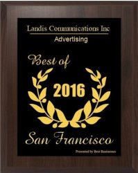 Landis Communications Inc. - Advertising - Best of Sand Francisco 2016 - Presented by Best Businesses